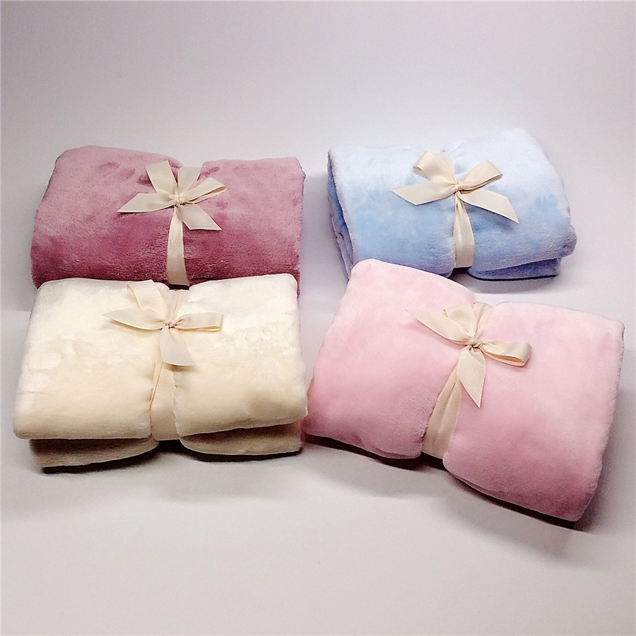 70x100cm 2019 New Blanket & Swaddling Thick Double Layer Flannel Napping Blanket Child Knee Car Airplane Small Blanket