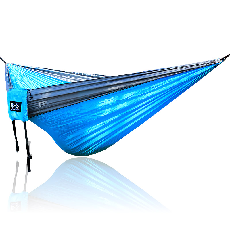 Blue Gray Hammock Outdoor Double Hammock 300*200cm Big Size Loading 350KG
