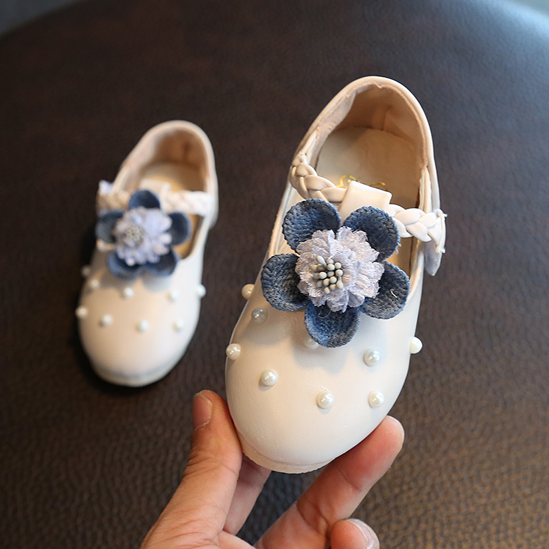Baby Girl Shoes Toddler Girl Shoes For Children's Footwear Princess Flower White Pink Breathable Hooks Child Shoe Girl Sandals