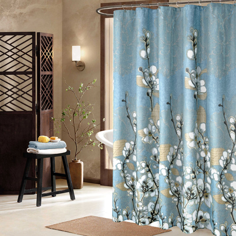 European Modern Bathroom Curtains Thick European Pattern Household Items  Shower Curtain(China) Part 78