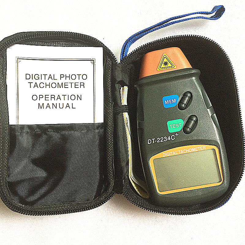 DT-2234C+ digital engine tachometer speed digital speedometer Digital Laser Photo Tachometer Non Contact Tach speed meter pocket non contact tachometer az8000