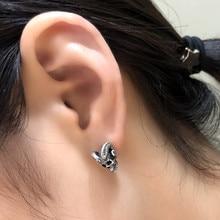 c8046b667 Dark night workshop 925 sterling silver oxidized black geometric square  earrings Circle minimalist earrings accessories Girls