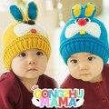 2014 Nova Coreano estilo coelho bebê meninos Chapéu de lã de Inverno Crianças Earflap Cap 1-4 Anos de Idade da menina