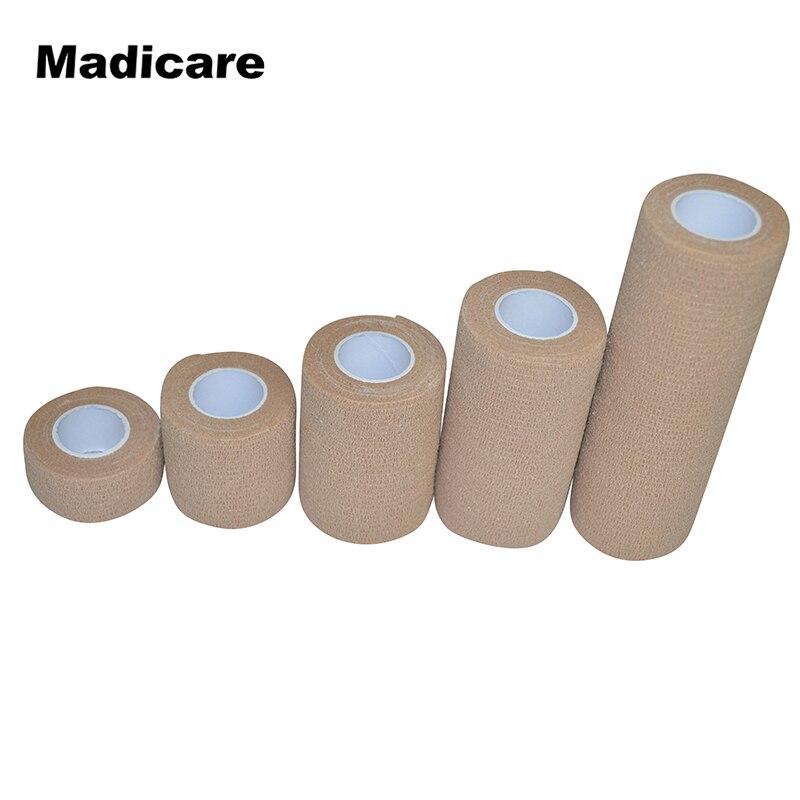 Coban Primeros Auxilios autoadherente envoltura no tejida cohesiva autoadhesivo vendaje elástico piel Beige rodilla codo médico cinta deportiva