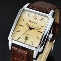 Clássico marca curren homens relógio do esporte analógico relógio de quartzo relógio masculino à prova d' água pulseira de couro casual mens relógios relogio masculino