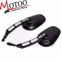 Motoo Motorcycle Rear View Side Mirrors For Harley Street Bob FXDB Fat Boy Iron 883 XL883N Sportster 1200