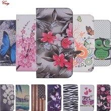 Чехлы-книжки на Y3() из искусственной кожи, чехлы Fundas для huawei Y3 CRO-L22 L02, милые чехлы-бумажники с подставкой
