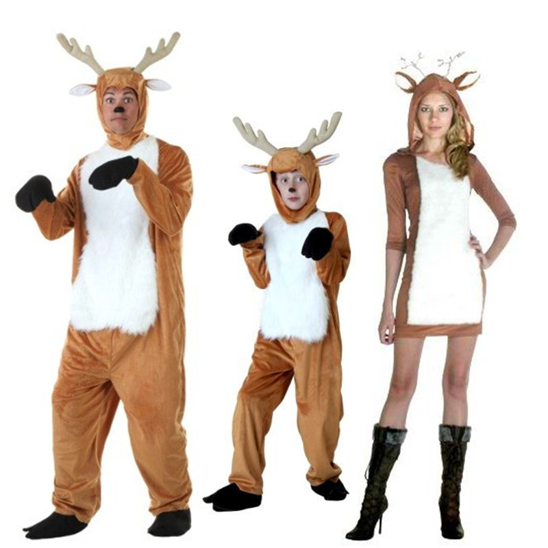 4cfaee9cda Irek Hot New Cosplay Party Halloween Costume Cartoon Animal Christmas  reindeer sexy Deer costumes for Children Adults