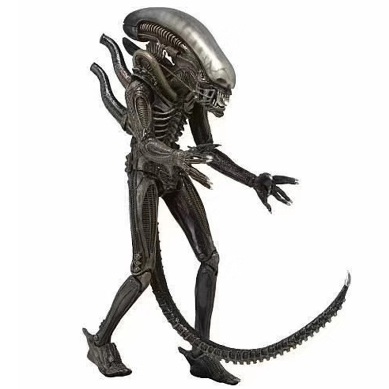 "NECA Alien Xenomorph Warrior Black Transparent Aliens 7/"" Action Figure 1:12 New"