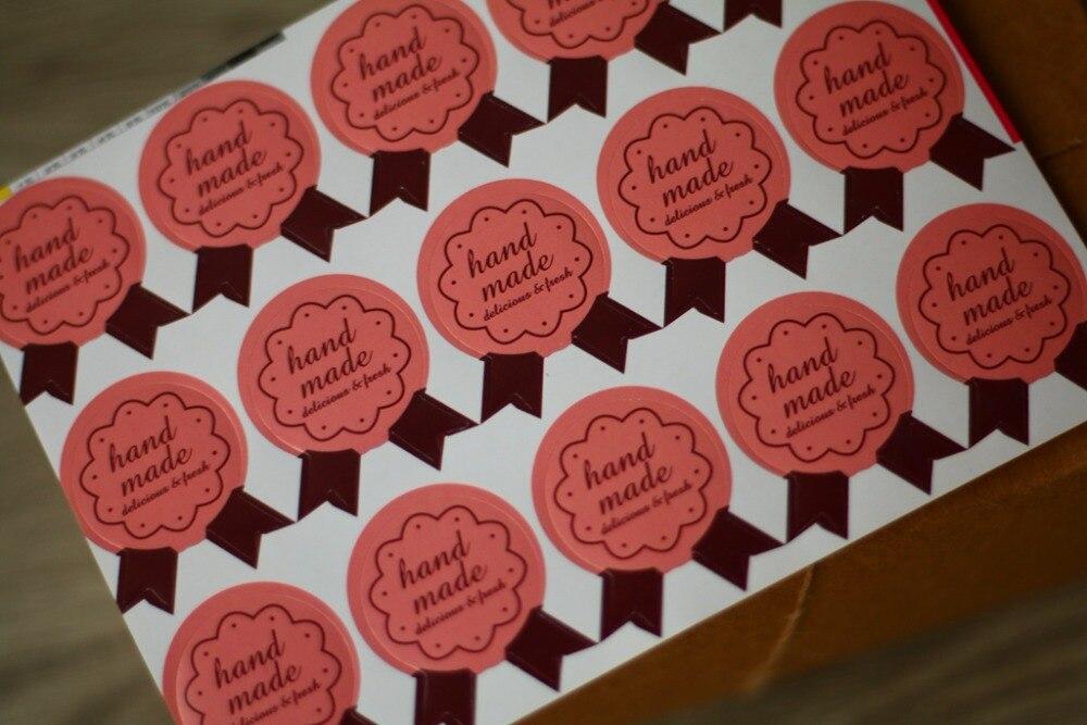 Наклейки ручной работы для домашних тортов, кексов, печенья, шоколада, Подарочные наклейки 750 шт./лот