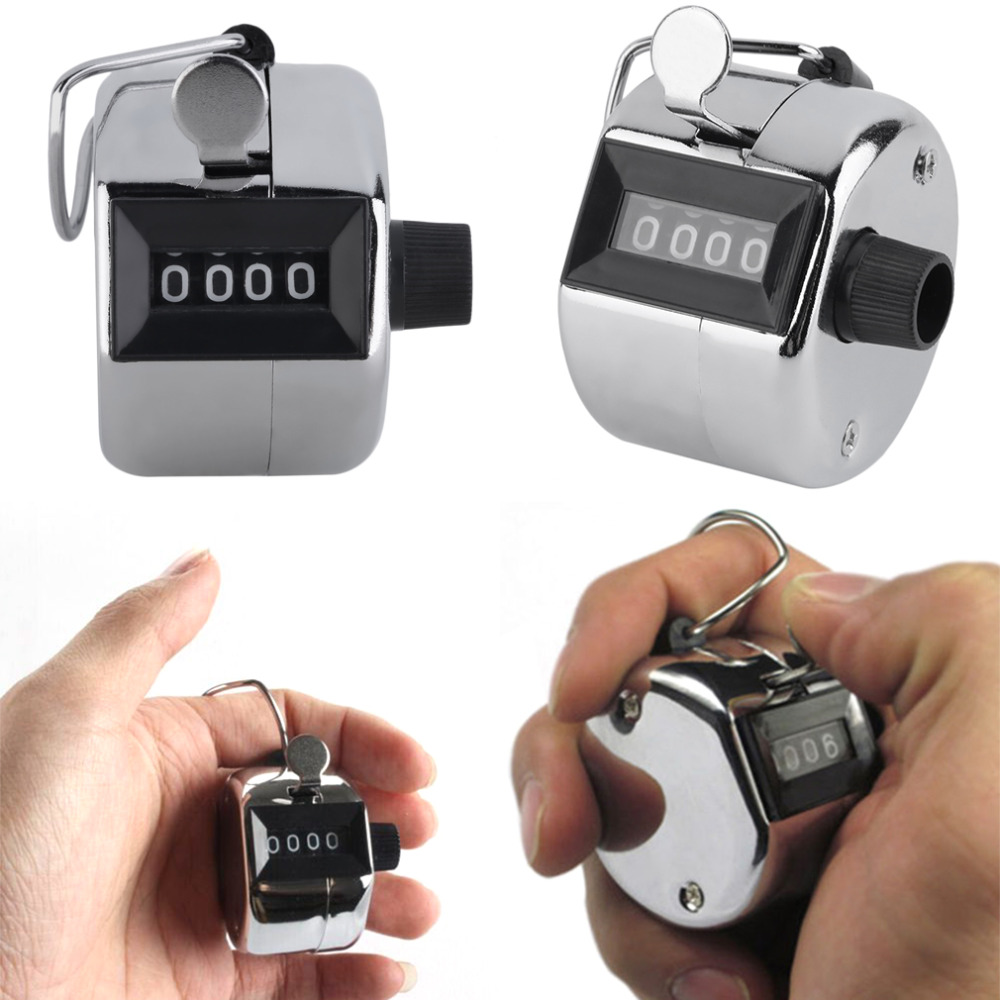 Metal Portable Digital Chrome Hand Tally Clicker/Counter 4 Digit Number Clicker Golf-in Golf Training Aids from Sports & Entertainment