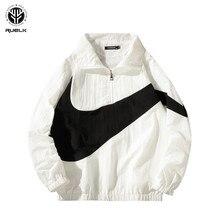 RUELK hombre chaquetas hip-hop Outwear Otoño de moda de Color de calle  Casual Hombre chaqueta delgada abrigo de primavera Street. ba12240297d