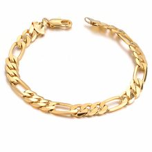 Women Gold Copper Curb Wrist Chain Bangle Vogue Trendy Men Hip Hop Rock Bracelet Shellhard Hollow Cross High-end Jewelry Gift(China)