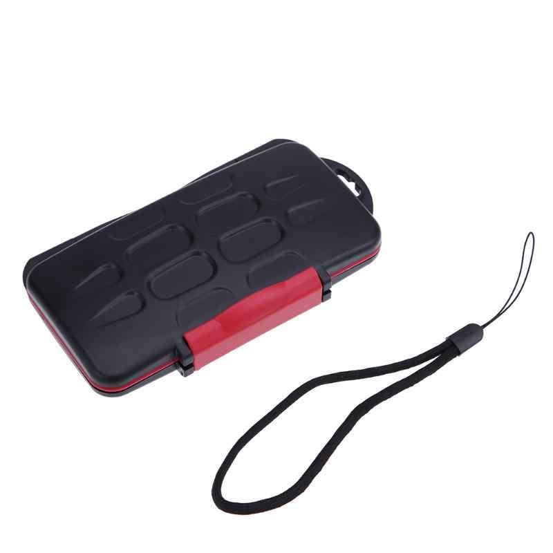 مايكرو SD حامل بطاقة غلاف بطاقة ذاكرة مقاومة للماء 12 فتحات قدرة مكافحة صدمة تخزين صندوق حامل الحالات ل SD/مايكرو SD/TF بطاقات
