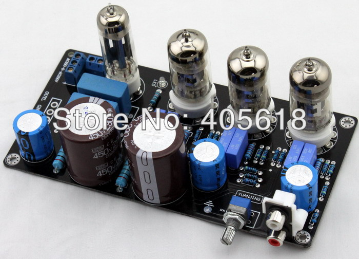 6N4 x3 6Z4 Tube Preamplifier Maratz 7 Valve Pre-amp Assembled Kit Updated Board 1pcs high quality 6n3 6z4 tube valve pre amp class a audio stereo preamplifier include transformer g2 007