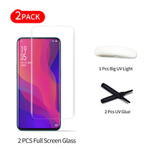 Liquid UV Full Glue Tempered Glass Film for OPPO Find X Full Screen Coverage 3D UV Light Nano Liquid Sceen Protector Film