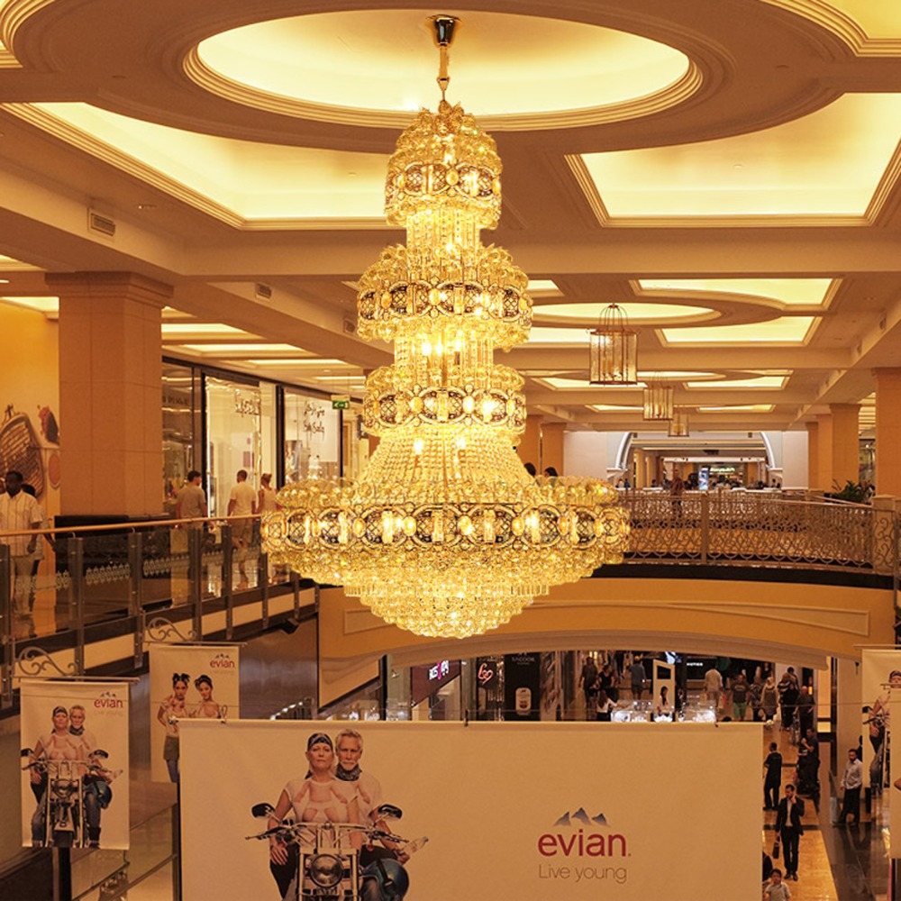 Led crystal chandeliers lighting fixture gold crystal chandelier big led crystal chandeliers lighting fixture gold crystal chandelier big modern chandelier hotel clubs lobby hall villa hanging lamp in chandeliers from lights aloadofball Choice Image