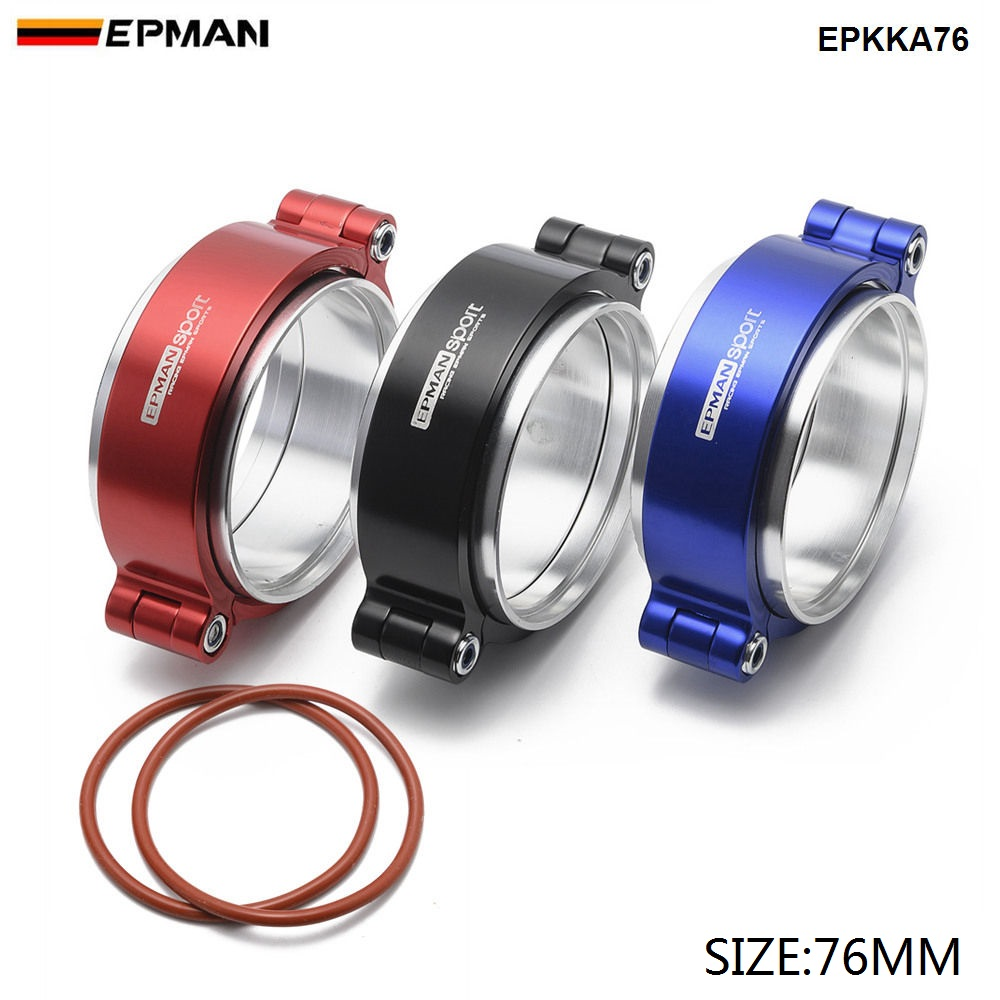 "Epman HD  Exhaust V band Clamp w Flange System Assenbly Anodized Clamp For 3"" OD Turbo Dump Pipe EPKKA76