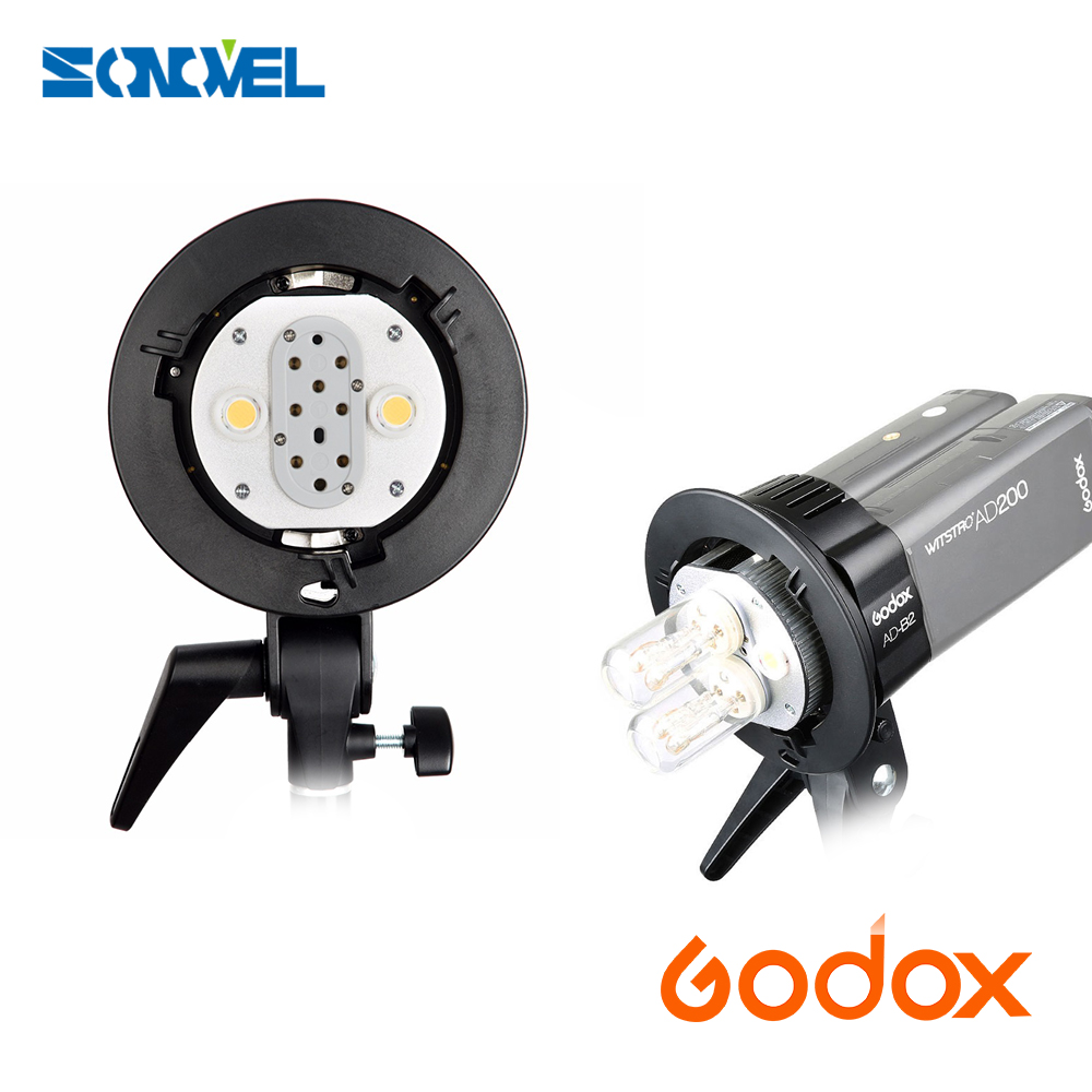 New arrival Godox AD200 AD-B2 Bowens Mount Double Tubes Light Head Bracket for AD200 Dual Power Flash Portable Flash