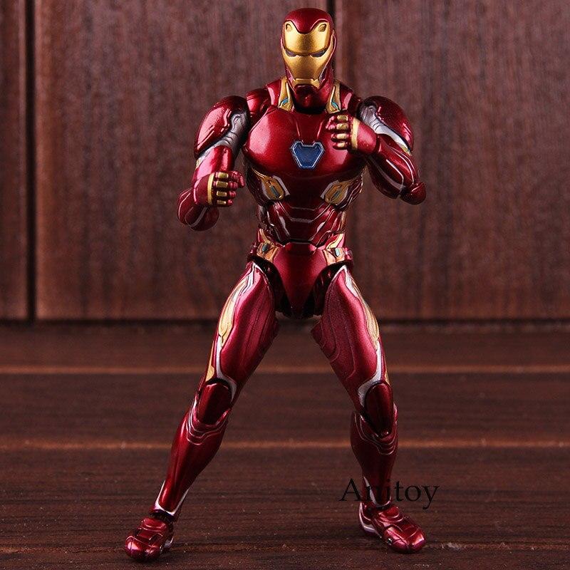 SHF Marvel Avengers Infinity War Action Figure Iron Man MK 50 Mark XLX PVC Collectible Model Toy 1