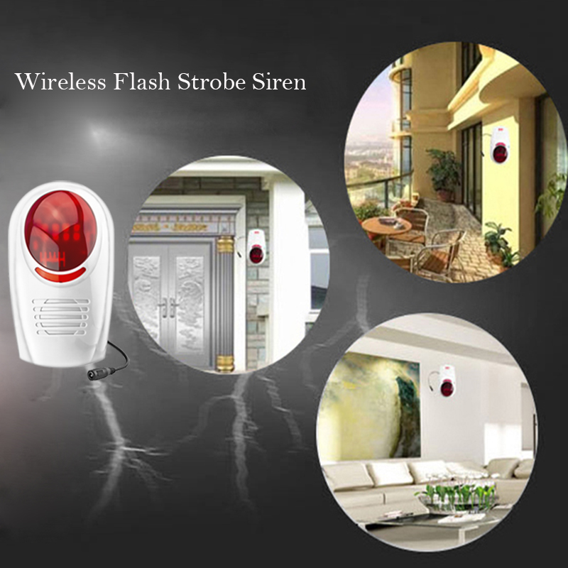 Wireless Flash Strobe Outdoor waterproof Siren Red Light 100dB 315MHz Just For Our GSM PSTN security Alarm System цена и фото