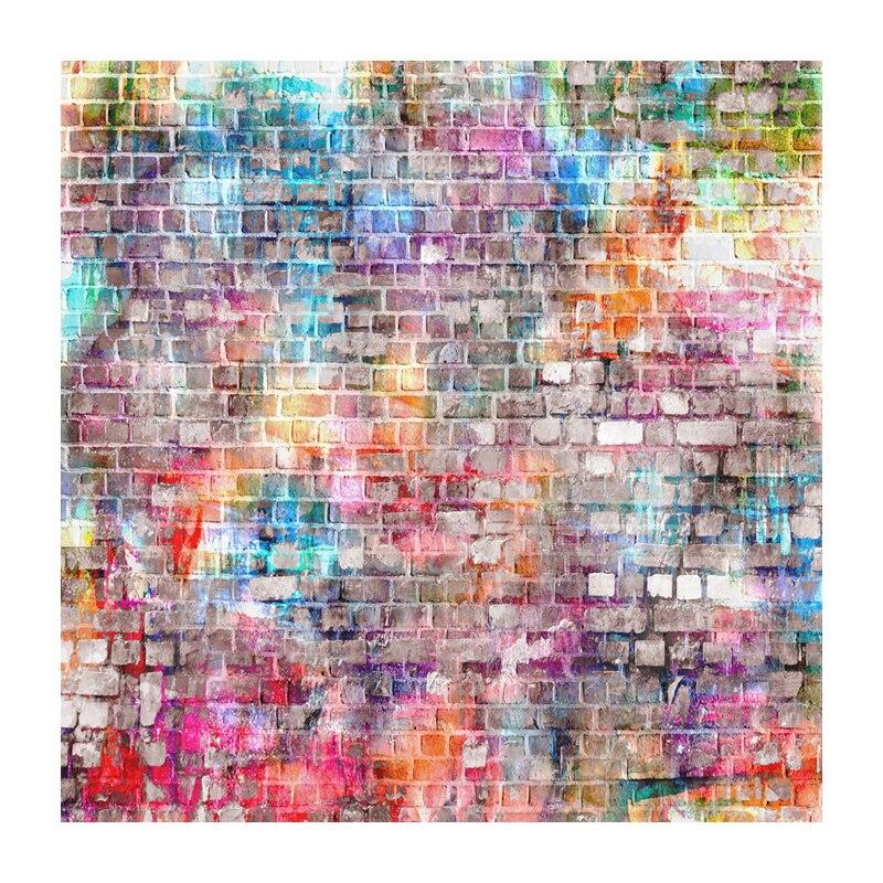 Color de fondo de fotos de pared de ladrillo Brillo Paño de vinilo - Cámara y foto - foto 1