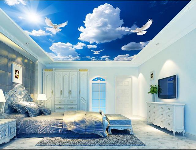 Images Plafond Maison Avec Une Image De Nuage