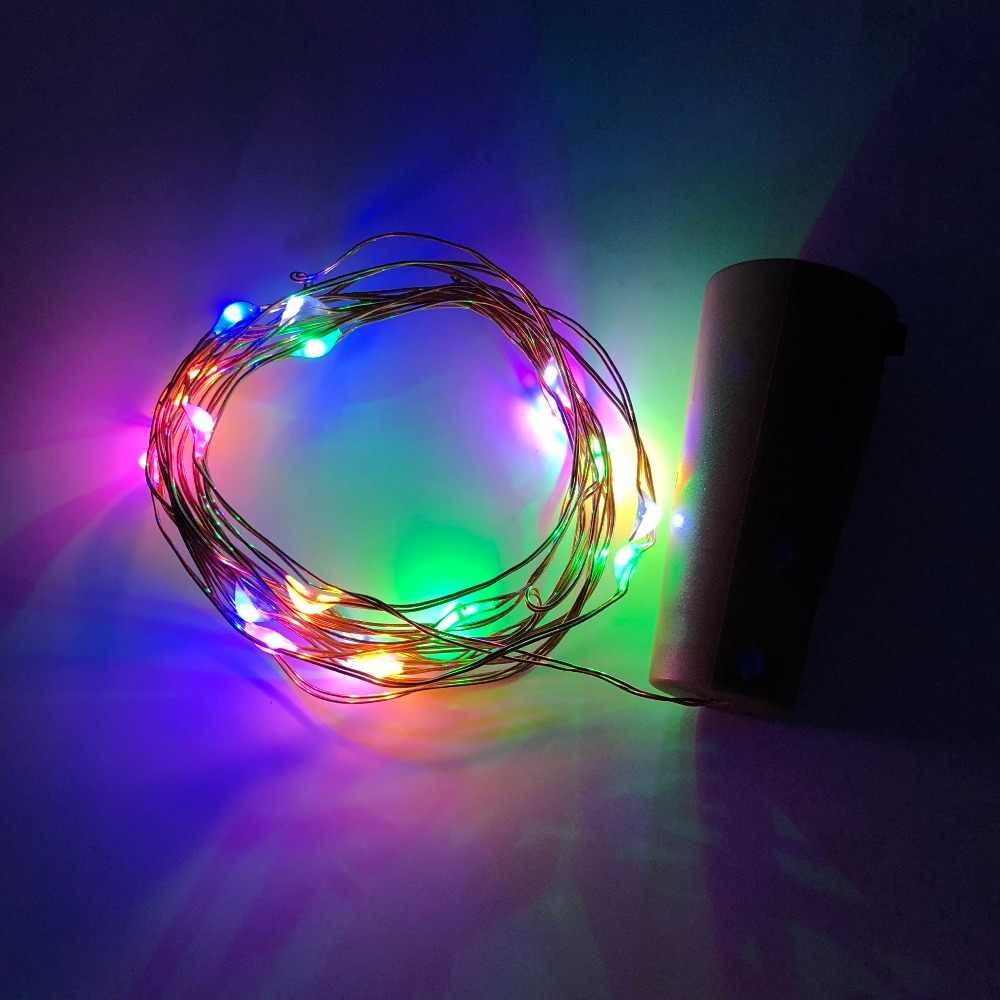 2 M LED זר נחושת חוט Corker String פיות זכוכית קרפט בקבוק חדש שנה/חג המולד/חג האהבה חתונה קישוט