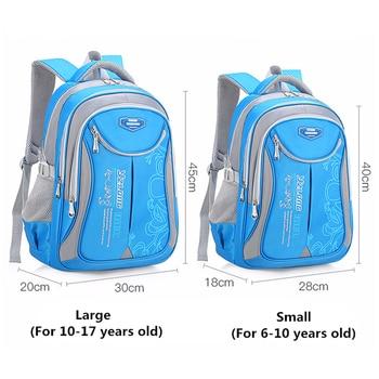 Backpack Schoolbag Children School Bags for Teenagers Boys Girls Big Capacity Waterproof Satchel Kids Book Bag 1