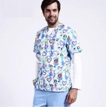 New Arrival!Pet Hospital  Woman & Man Work Medical Uniforms Polyester Cotton Printing Comfortable Scrub Sets,J10