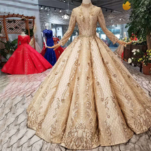 EVERFEAG Luxury Long Sleeves Ball Gown Wedding Dress 2019