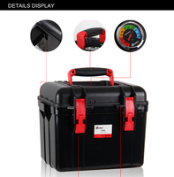 Photo black Hard Waterproof Plastic Case with handle dry box for camera digital products dry cabinet