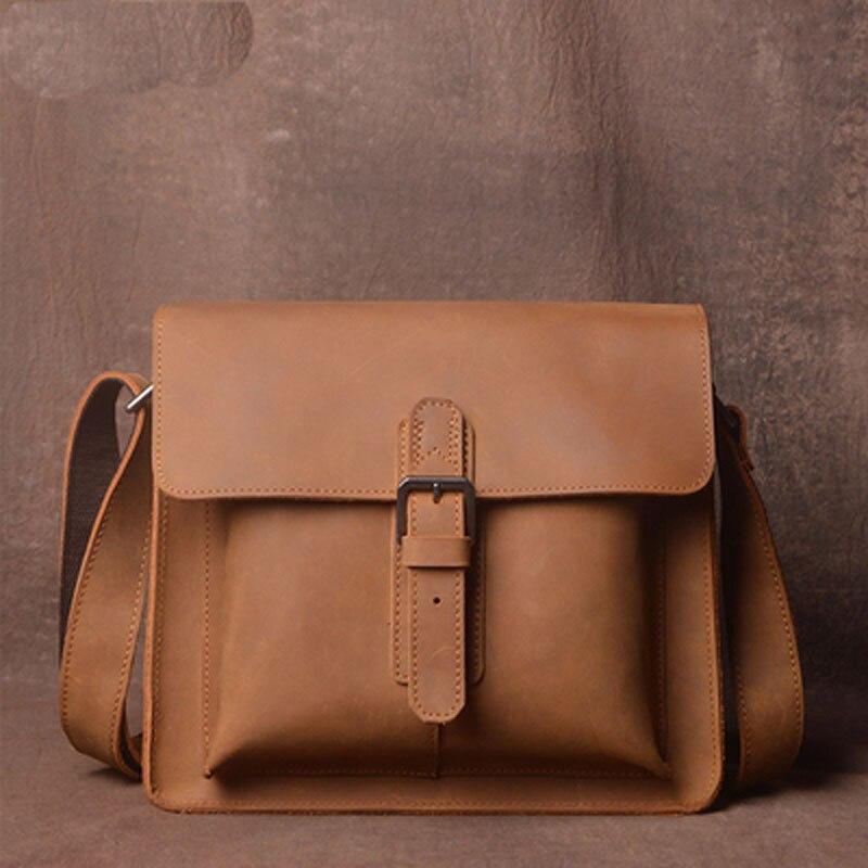 Bagaj ve Çantalar'ten Çapraz Çantalar'de AETOO Orijinal retro çılgın at deri omuzdan askili çanta el ilk katman deri askılı çanta basit erkekler ve kadınlar çanta'da  Grup 2