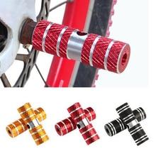 1 пара велосипедная педаль BMX для шоссейного велосипеда, цилиндр из алюминиевого сплава, 3/8 дюймов, велосипедная педаль, ось, подножки, ракета, велосипедная педаль