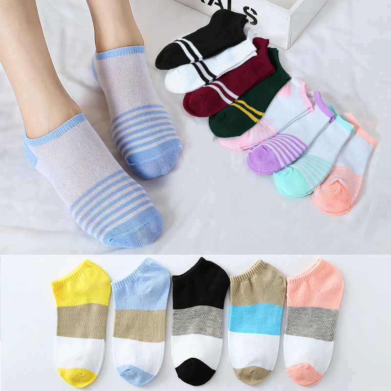 Весенние низкие носки MS color panel женские короткие носочки с закрытым носком носочки для купания цветные Прошитые носки женские лодочные носки