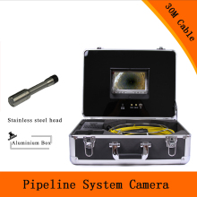 (1 set) 30M Cable 7 inch Color Monitor Sewer Pipeline System Inspection Camera HD 1100TVL line Night version Endoscope system