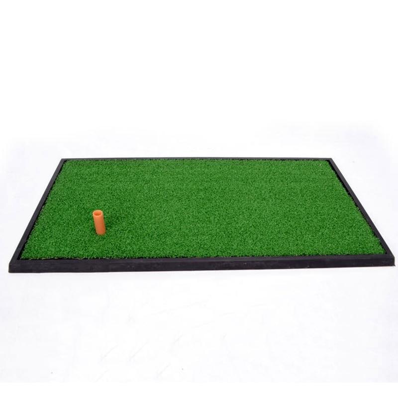 ФОТО Hot Sale Golf Practice Mat 63*33cm Indoor Hitting Chipping Driving Range Tee Holder Training Hitting Pad