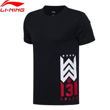 (Break Code)Li-Ning Men Wade Basketball T-shirts Regular Fit 100 Cotton LiNing li ning T Shirt Sports Tees AHSM293 MTS2659 cheap Short Breathable Jerseys Fits true to size take your normal size Broadcloth