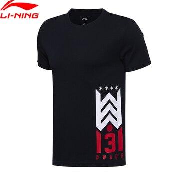 Li-Ning Men's Wade Basketball T-shirts Regular Fit Short Sleeve 100% Cotton LiNing T Shirt Sports Tees Tops AHSM293 MTS2659