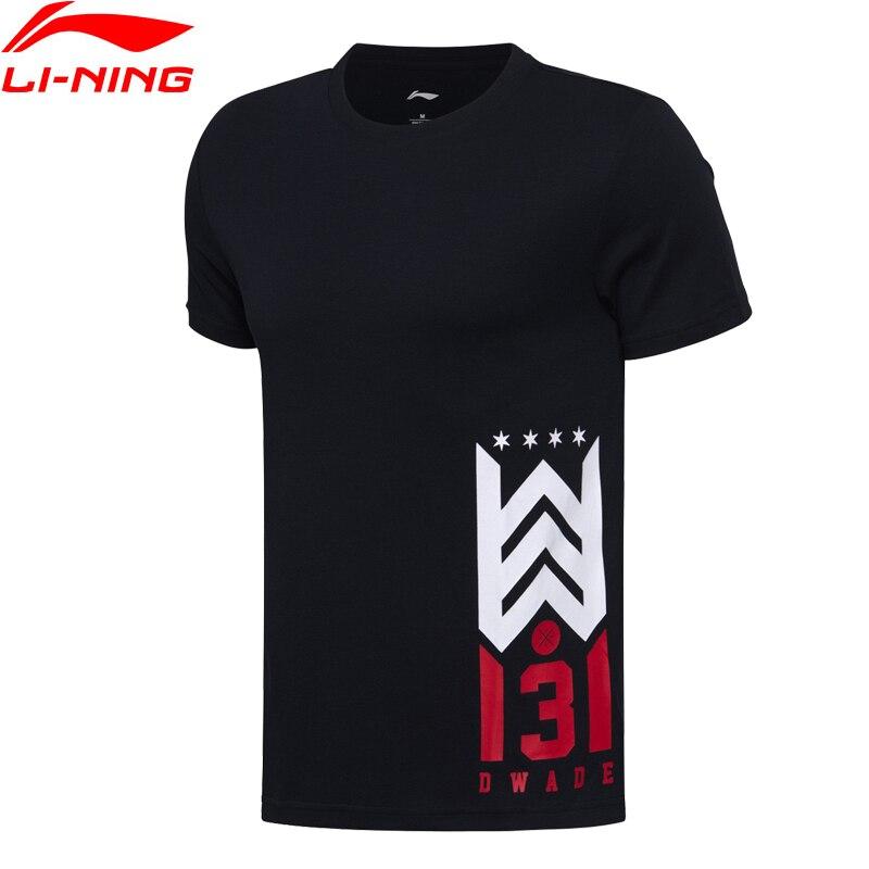 Li-ning hombres Wade Baloncesto Camisetas regular fit manga corta 100% algodón forro t camisa deportes Camisetas Tees Tops ahsm293 mts2659