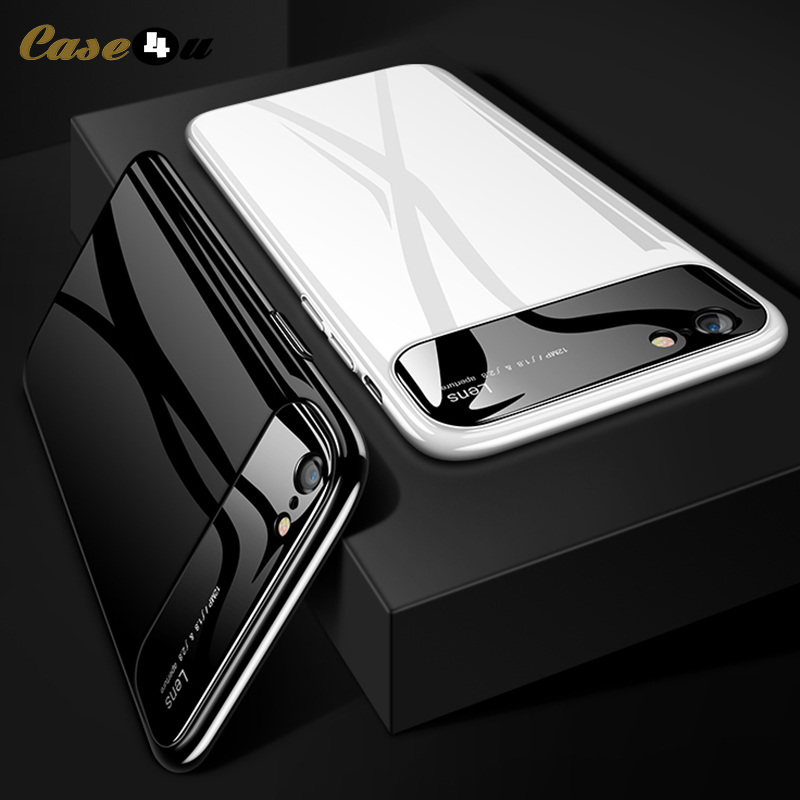 timeless design f1cb7 a7acf US $2.45 10% OFF|Bling Smooth Hybrid Clear Mirror Hard Case For iPhone 7 8  Plus iPhone8 Camera Protector Cover For iPhone 6 6s Plus X 10 coque-in ...