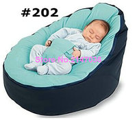 Faux Suede Navy Blue Boy Baby Infant Bean Bag Snuggle Bed Portable Seat Without Filling