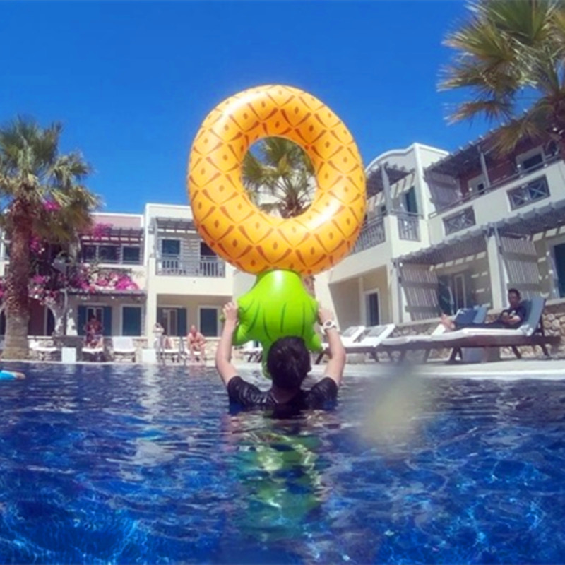 Big Size Pineapple Inflatable Swim Ring for Adult Kids Life Ring for Swimming Buoyancy kayak Pool Toys Life Buoy A