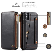 For Coque Apple iPhone 6 6s 7 8 Plus Case Real Leather Wallet Flip sFor iPhone 11 X XR XS Max Case For Samsung Note 9 S9+ Cover