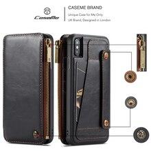 Pour Coque iPhone 6 6s 7 8 Plus Étui Portefeuille En Cuir Véritable Flip sFor iPhone 11 X XR XS Max Pour Samsung Note 9 S9 + Housse
