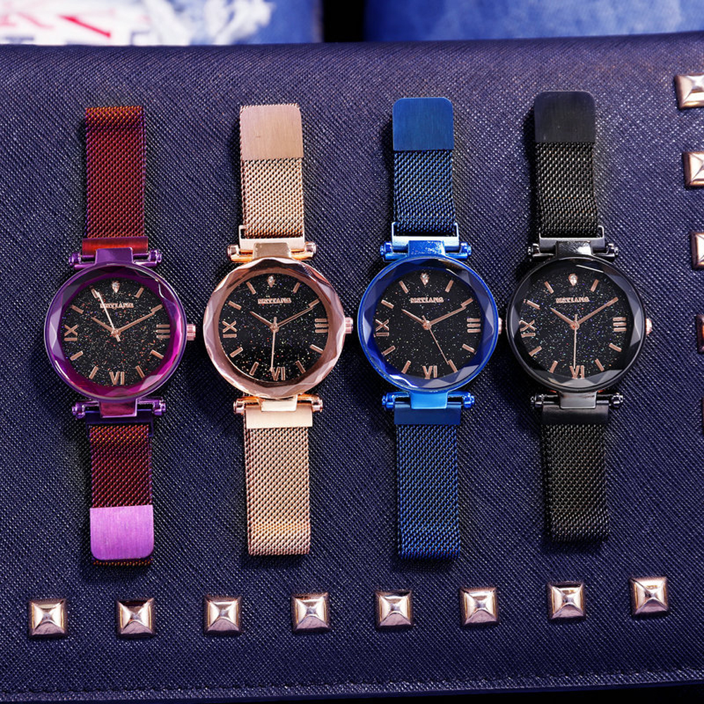 Starry Sky Magnetic Women's Watches Ladies Rose Gold Watch Female Girl's Wristwatch Relogio Feminino Reloj Mujer Dropshipping