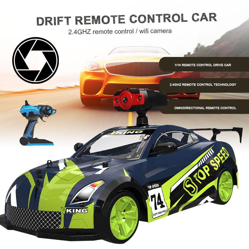 RC Drift Car RC Car RC Racing 1:14 15km/H Wifi 4WD Crawler Vehicle Boys Gifts High Speed Rc Rock Crawler Cars Kids Toy Toys