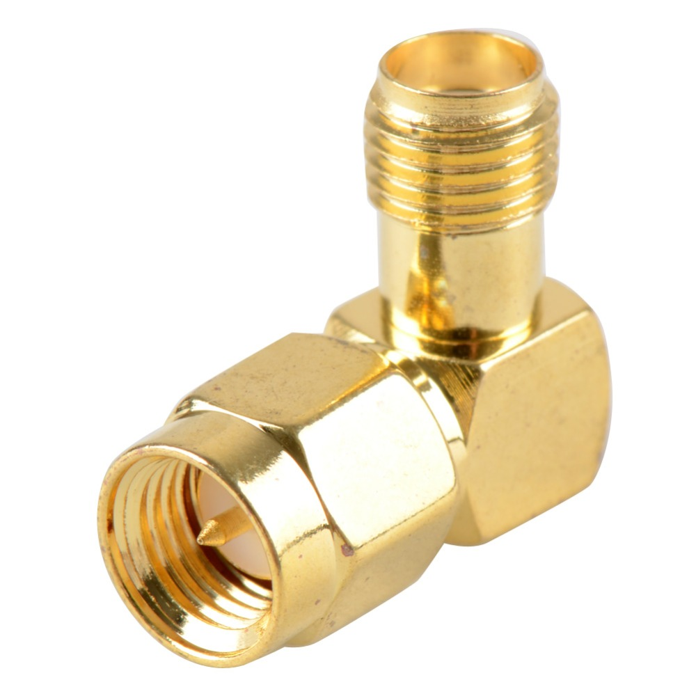 SMA Male Plug To SMA Female Jack Right Angle 90 Degree Gold Plating Coaxial Connector Adapter Cable VC653 P30 rp sma female to y type 2x ip 9 ms156 male splitter combiner cable pigtail rg316 one sma point 2 ms156 connector for lte yota