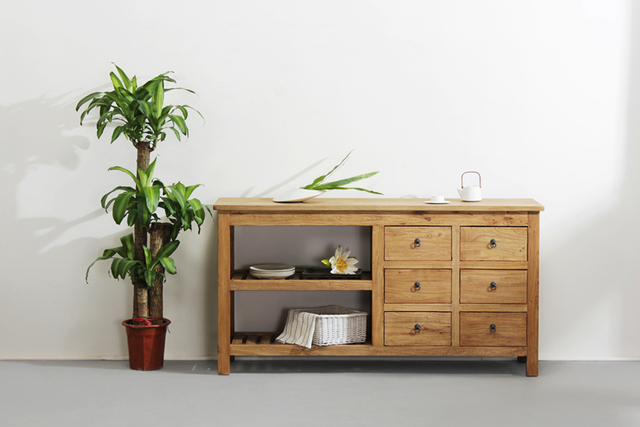 Credenza Da Cucina In Legno : Vecchio legno di pino credenza classico minimalista armadio da