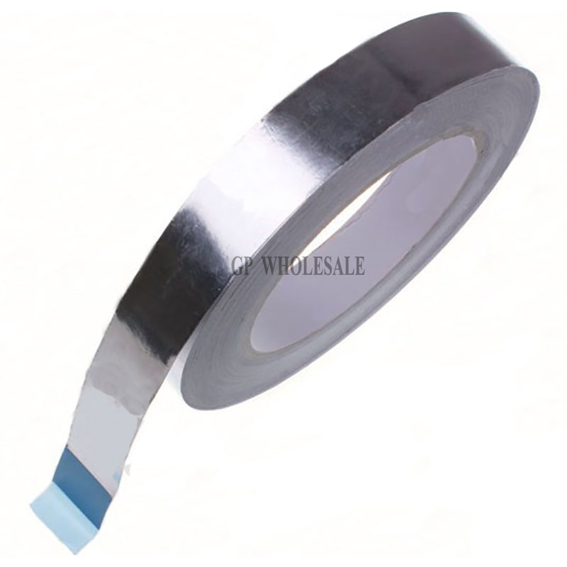 1x 65mm * 40M *0.06mm Aluminum Foil Paper Tape for Thermal Conductive, EMI Shielding, BGA Soldering Masking, Duct Sealing 1x 60mm 40m 0 06mm single adhesive aluminum foil paper tape for heat transfer emi shielding bga soldering protecting